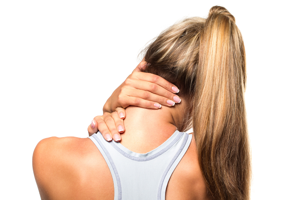 women has neck pain in Bradenton